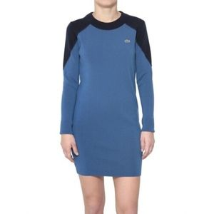 NWT LACOSTE COLOR BLOCK WOOL SWEATERDRESS DRESS 6
